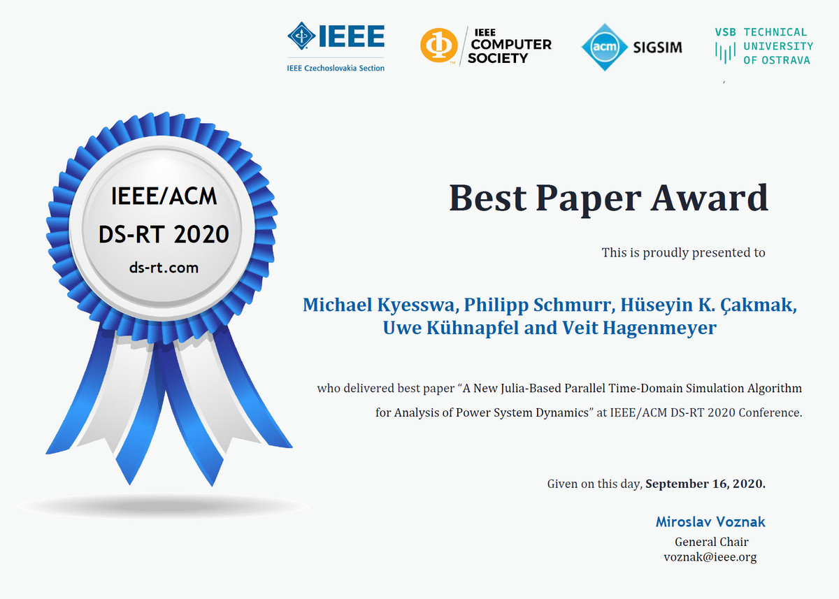 2020 Best Paper Award Michael Kyesswa